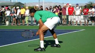 Jo-Wilfred Tsonga practicing at Indian Wells 2009
