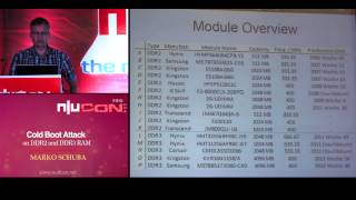 nullcon goa 2015 cold boot attack on ddr2 and ddr3 ram by marko schuba