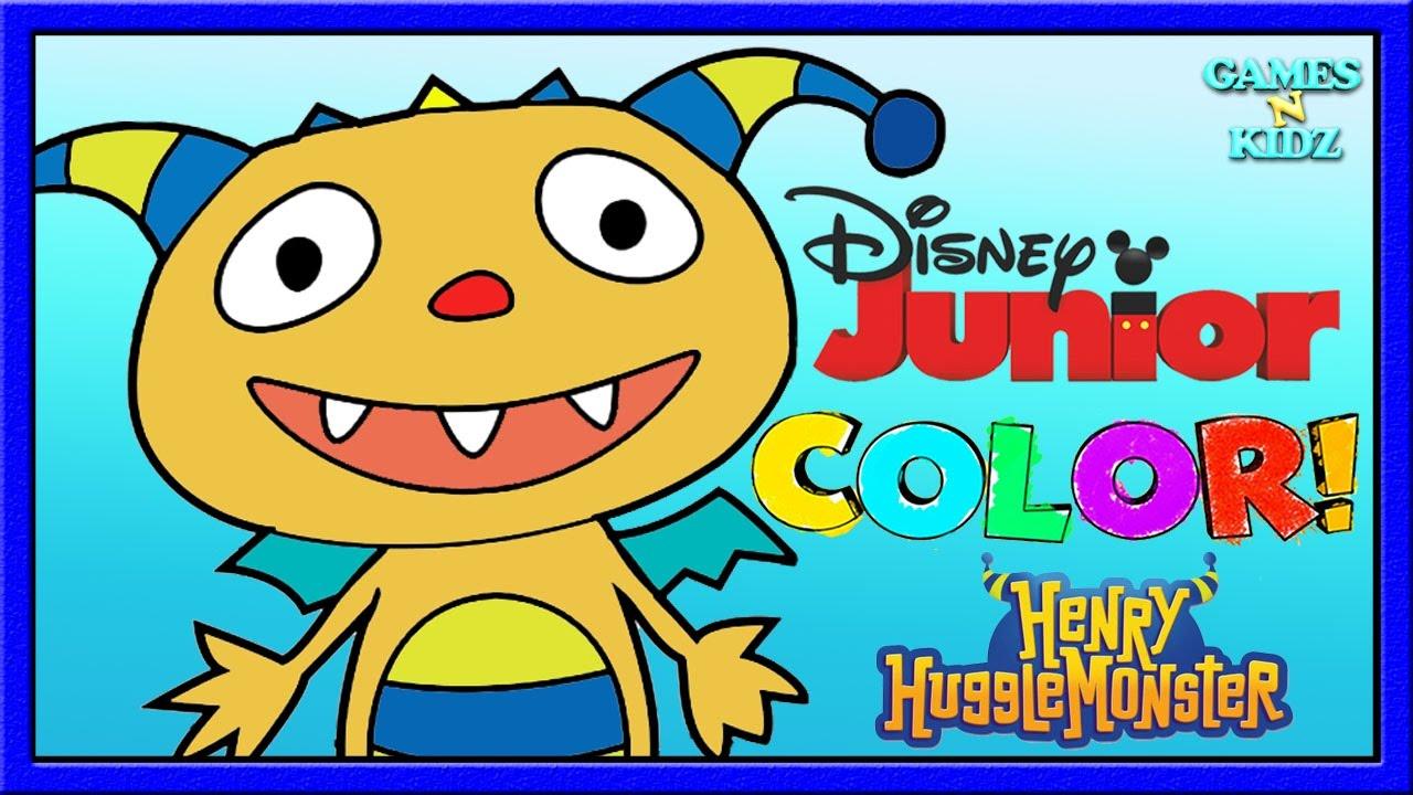 Beautiful Disney Junior Coloring Pages Vignette