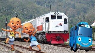 Gambar cover Lagu Anak Naik Kereta Api Tut Tut Tut Upin Ipin dan Tayo