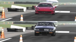 Buick Regal GNX 600hp vs Ferrari 458 at Top Gear Track