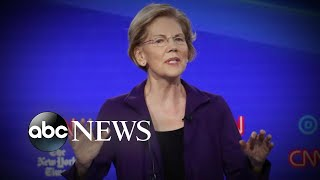 Elizabeth Warren faces attacks in Democratic debate l ABC News