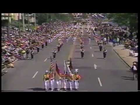 Needham Broughton High School Band-1987 Festival of States Parade-TV Coverage