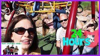 24 HOURS On A Playground (KidFavorite) / That YouTub3 Family | The Adventurers
