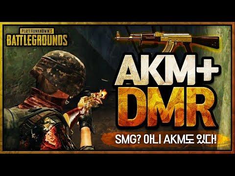 AKM.. 더 이상 거르는 총이 아니다! 새롭게 떠오르고 있는 AKM + DMR 조합 [AKM + Mini14] | 배틀그라운드 군림보