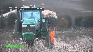 John Deere 8335 rt semina su sodo con seminatrice Maschio Gaspardo