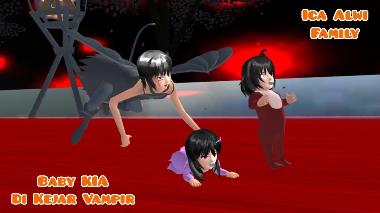 Baby Kia Di Kejar Vampir Di Rumah Hantu   Ica Alwi Family Vlog   Drama Sakura School Simulator