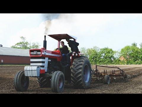 Massey Ferguson 1100 | Ploughing With 6-furrow Plough | Ferguson Days 2016