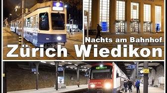 Bahnhof Wiedikon bei Nacht / Night Video, Train Station Zurich Wiedikon, Switzerland