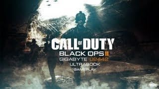 Call of Duty Black Ops II GAMEPLAY on Windows 8 Gigabyte U2442 GT640M