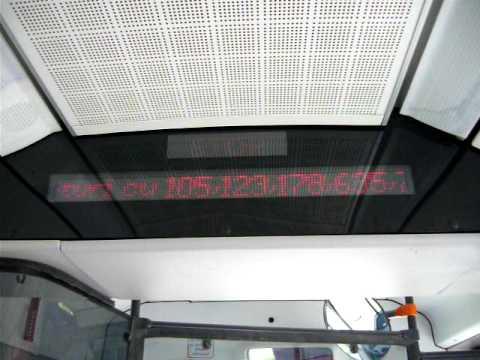 Afisiajul unui Autobuz Mercedes Citaro 1 la capatul liniei 282 Fluviului