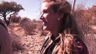 Jim Shockey & Eva Shockey hunting with Jofie Lamprecht Safaris in Namibia