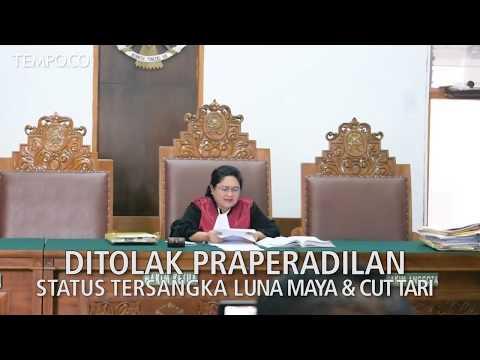 Ditolak Praperadilan Status Tersangka Luna Maya Dan Cut Tari