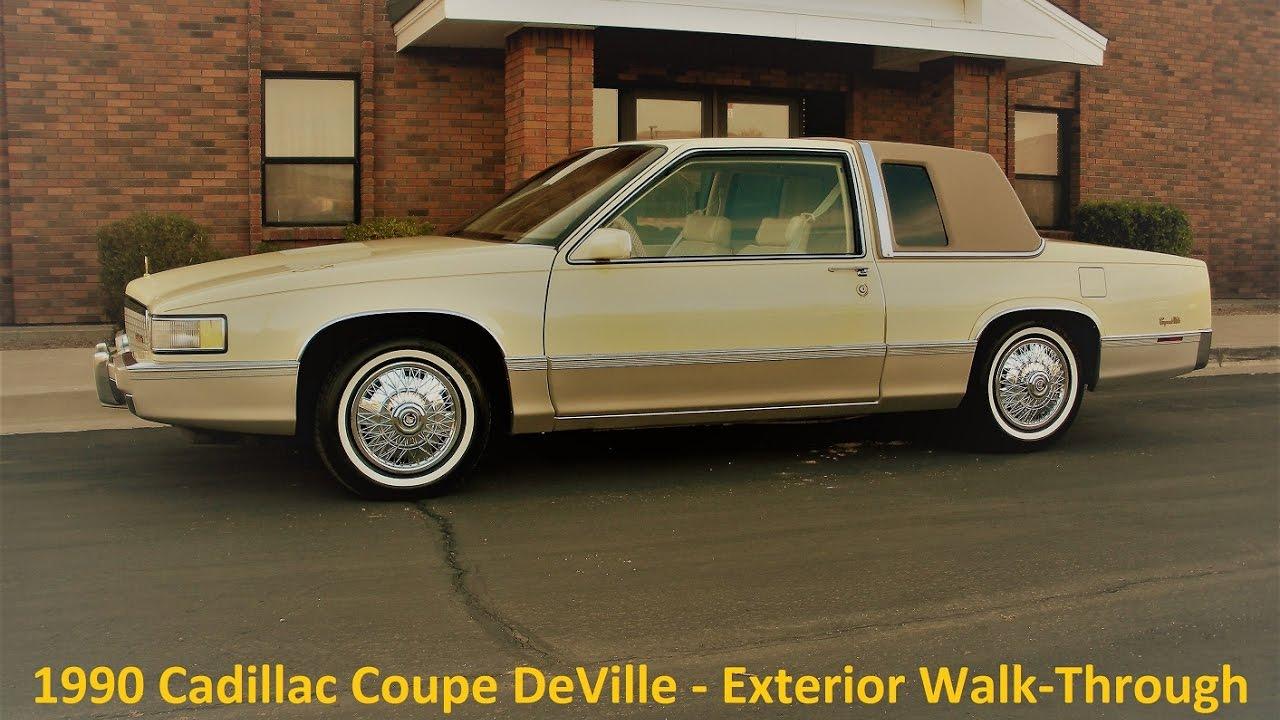 1990 Cadillac Coupe DeVille Exterior Walkthrough - YouTube