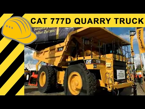 Caterpillar 777D Muldenkipper Quarry Truck Walkaround - CAT Mining Truck