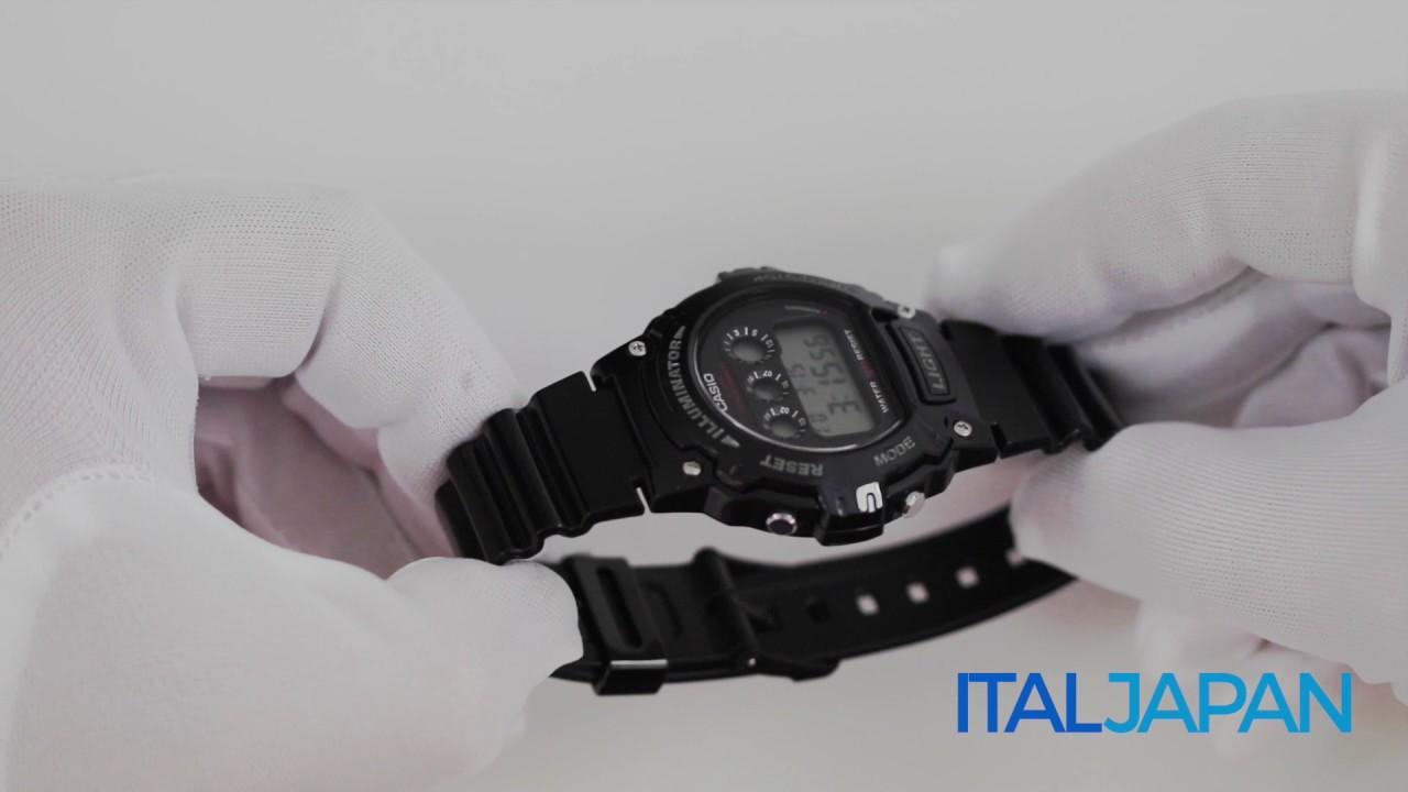 0104cd165efd Casio Watch Sports W-214HC-1A - YouTube