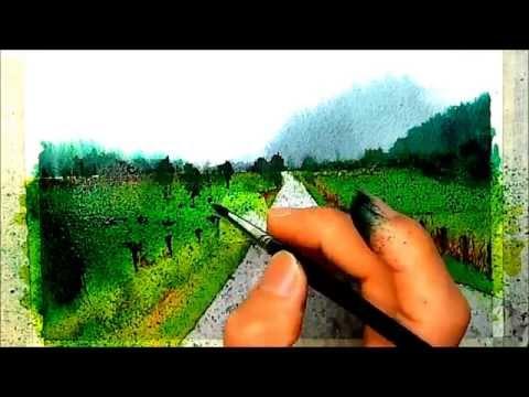 watercolor painting / 수채화 / 풍경 수채화  그림