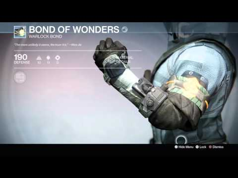 Destiny: The Taken King - Bond of Wonders (Warlock Bond) Information Tree & Appearance Demo 1080p