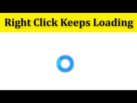 How To Fix Right Click Keeps Loading In Windows 10\8\7