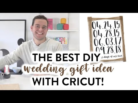 THE BEST DIY WEDDING GIFT IDEA WITH CRICUT!