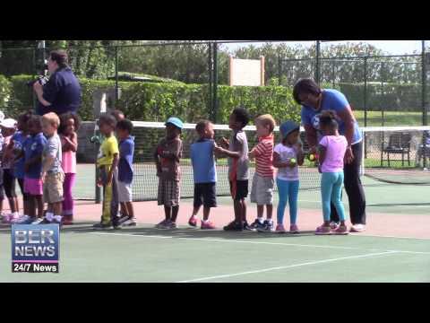 Preschool Students Tennis Exhibition At Grotto Bay, June 9 2015