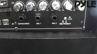 Pyle PKRK215 - DJ Karaoke Speaker System with Screen and Lights