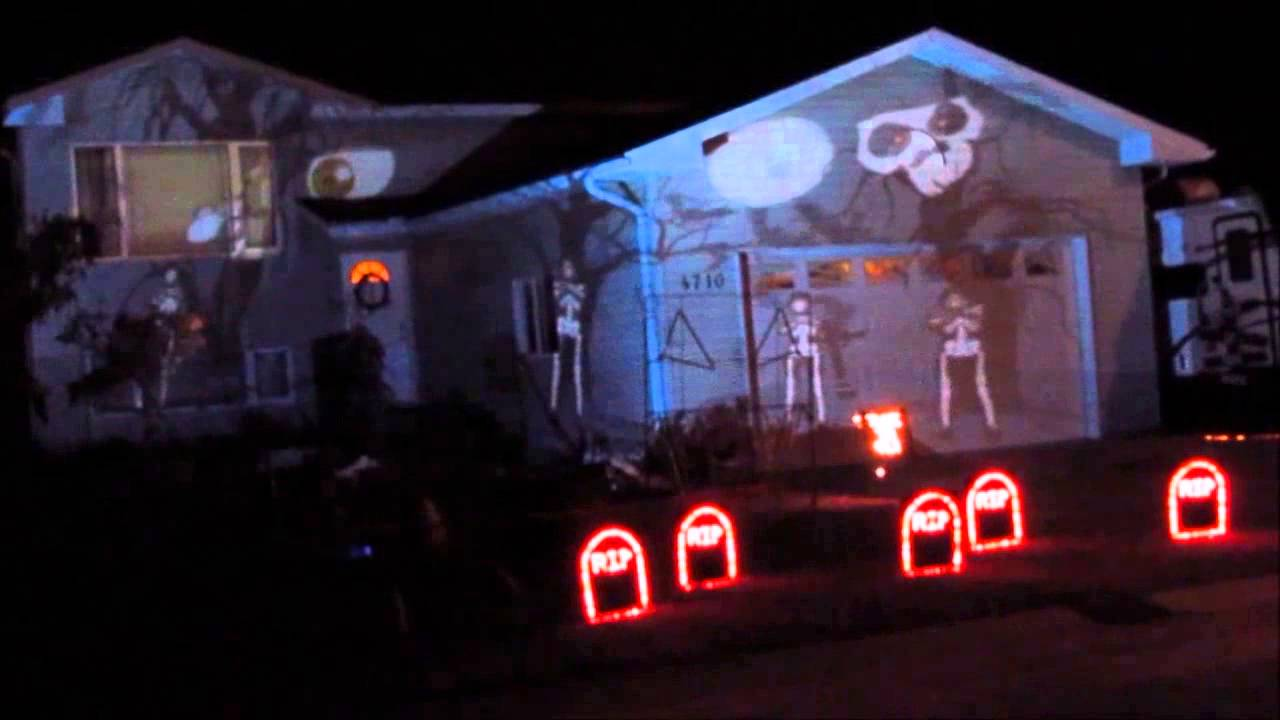 Free Halloween Window Projections