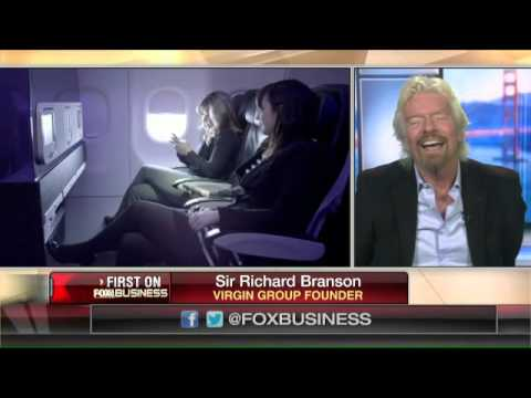 Sir Richard Branson on airline travel, U.S. economy