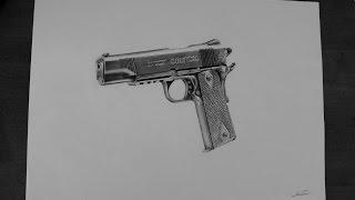 gun drawing pencil realistic