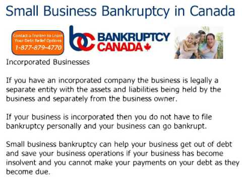 Small Business Bankruptcy In Canada