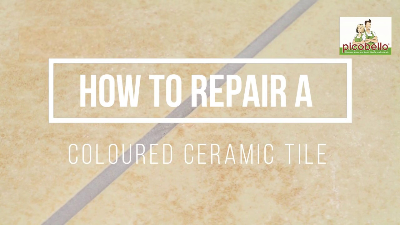 Repair A Chipped Floor Tile Youtube