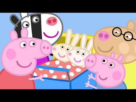 Peppa Pig English Episodes - Meet the Rabbit and Zebra Families! - #042