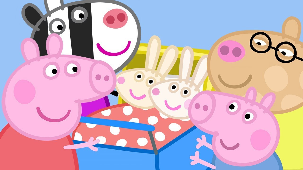 Peppa Pig Official Channel Meet The Rabbit And Zebra Families With Peppa Pig