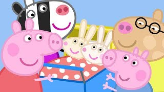 Peppa Pig English Episodes - Meet the Rabbit and Zebra Families! Peppa Pig Official