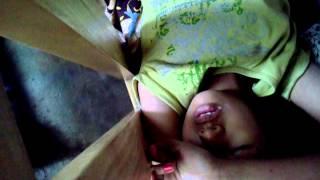 My sleeping sister shock.