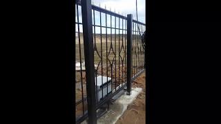 Смотреть видео откатные ворота подольск