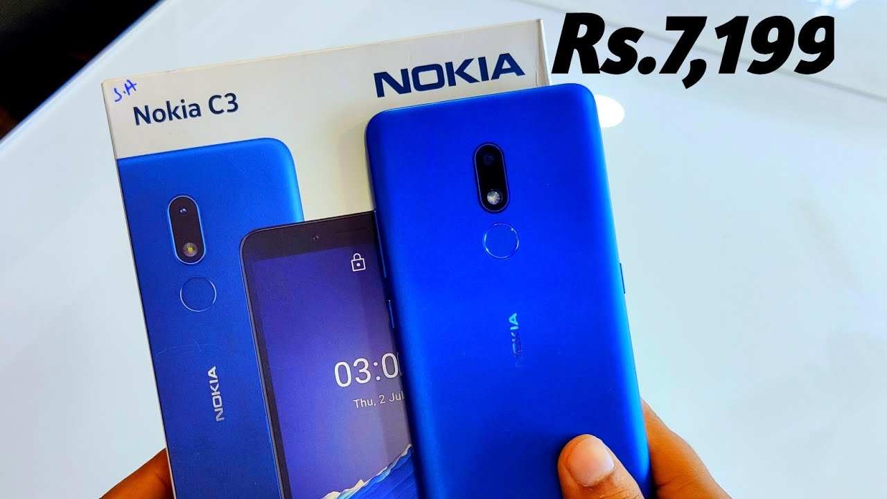 Nokia C3 Nordic Blue Unboxing,First Look & Review !! Nokia C3 Rs.7,199, Budget smartphone from Nokia