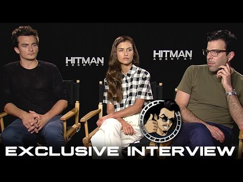 Rupert Friend, Hannah Ware, & Zachary Quinto Interview - Hitman: Agent 47 (HD) 2015