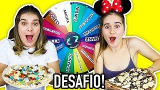DESAFIO DA PIZZA *DOCE* COM ROLETA!!! 😋🍕🍫