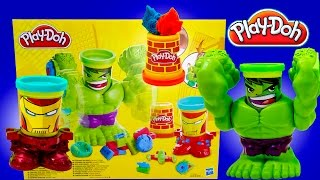 play doh smashdown hulk can heads featuring iron man from marvel the avengers superheroes