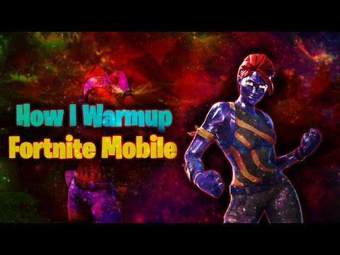 How I Warmup in Fortnite Mobile #gmy - 동영상