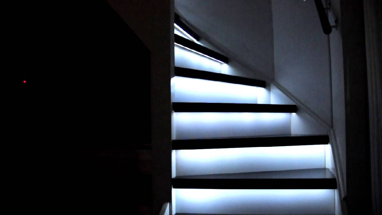 Staircase lighting - YouTube