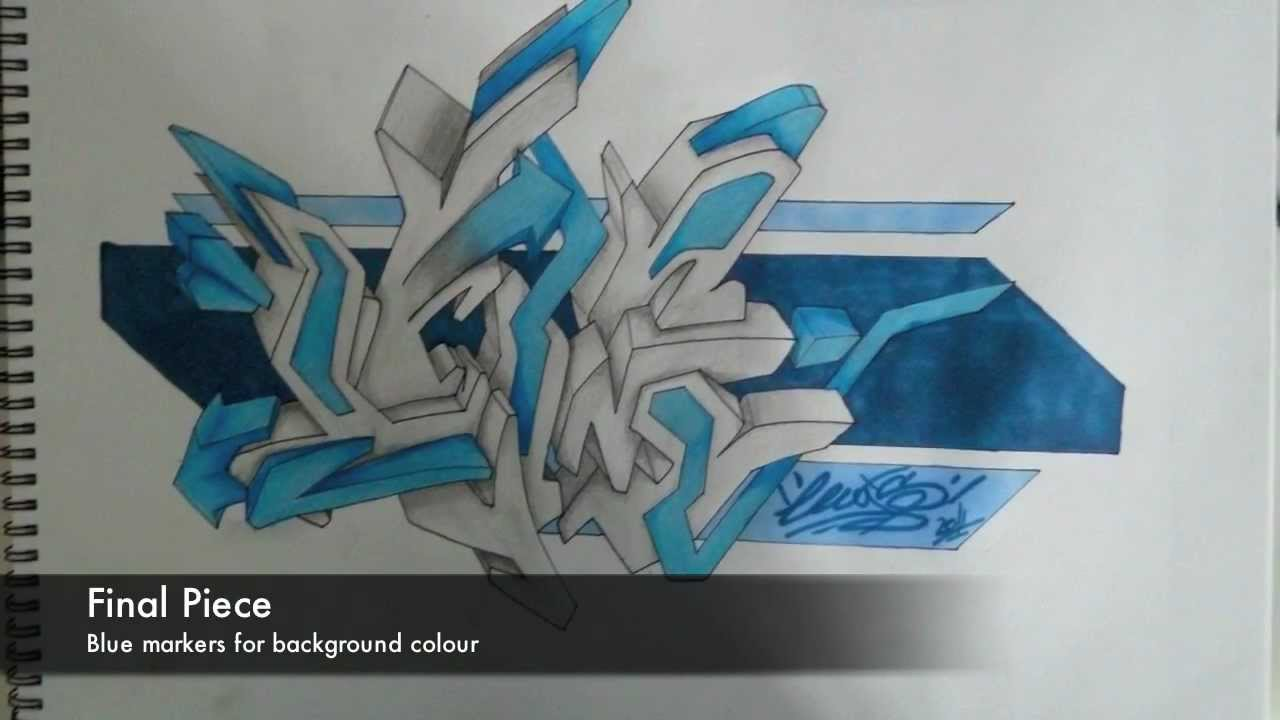 3d graffiti sketch by lewisfx