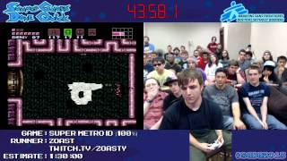 Super Metroid - SPEED RUN in 1:19:55 (100%) by zoast [SNES] #SGDQ 2013