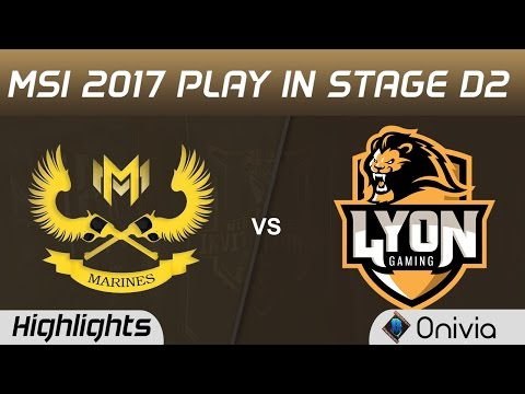 GAM vs LYN Highlights MSI 2017 Play In Stage D2 Marine Esports vs Lyon Gaming by Onivia