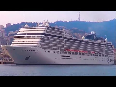 MSC Orchestra - MSC Cruises departs from the port of Genoa