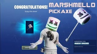 Fortnite Marshmello  Pickaxe! All locations! Epic Fortnite Pickaxe!