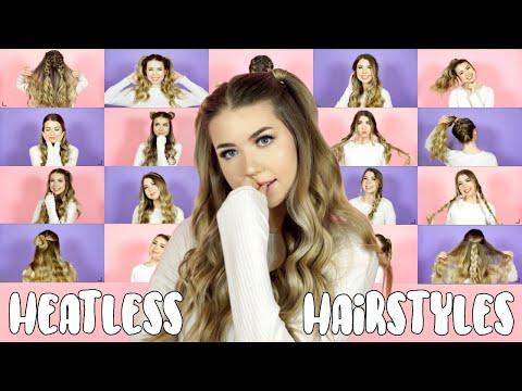 20 OF MY FAV HEATLESS HAIRSTYLES! Easy Hairstyles ft. Aussie!