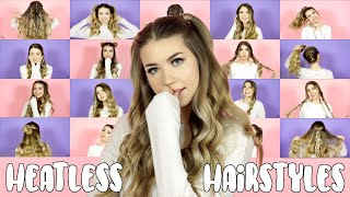 20 OF MY FAV HEATLESS HAIRSTYLES! Easy Hairstyles ft. Aussie!