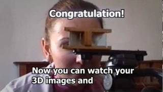 How to watch 3D movies without expensive hardware: Reflecting Stereoscope